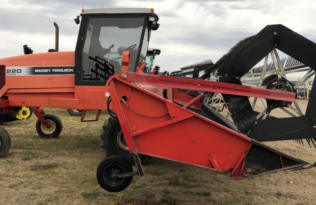 Massey Ferguson 220 Windrower with 30' Draper Header