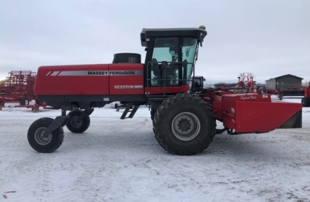 2010 Massey Ferguson 9635 Windrower with 15' 9190 Disc Header