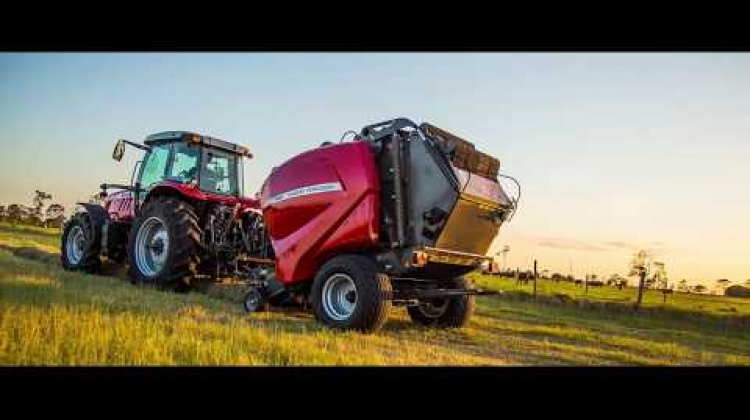 Massey Ferguson 4100v Round Silage Baler Walk-Around