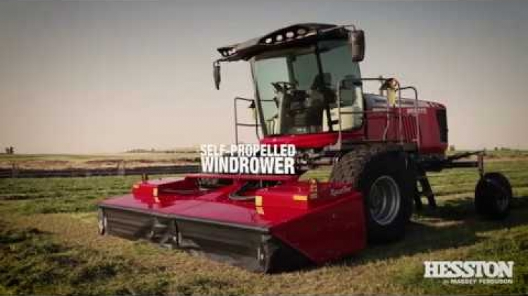 Hesston Large Square Balers and Windrowers