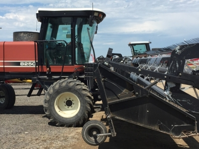 2001 Hesston 8250 Windrower with 30\' draper header