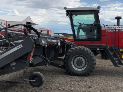 2014 Massey Ferguson WR9735 Windrower with 36ft Header