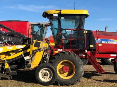 2013 New Holland H8040 Windrower with 36\' Honey Bee Header