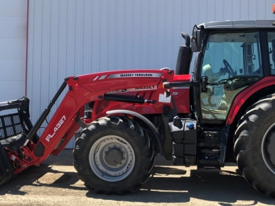 2018 Massey Ferguson 7718S FWA Tractor FEL & Grapple